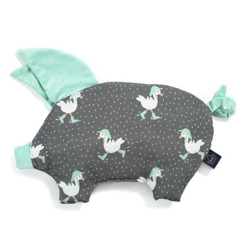 La Millou DANCIN IN THE RAIN SLEEPY PIG PILLOW (AUDREY MINT)